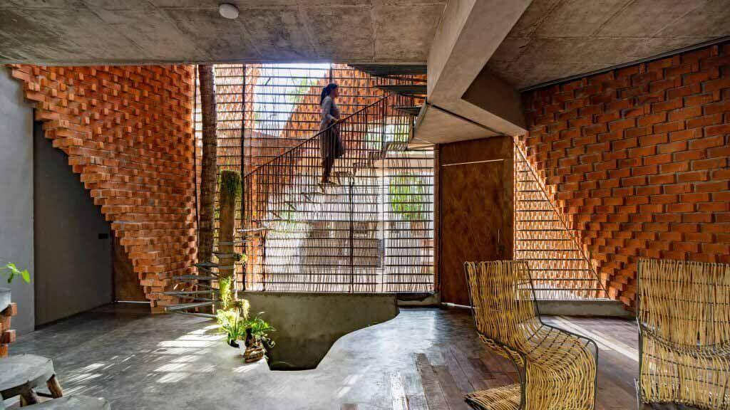 Wallmakers использует кирпич для создания изогнутых стен в Pirouette House