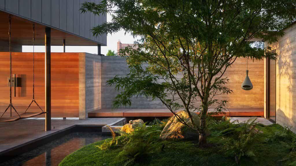 Зеленый двор в центре Сиэтла, дом от Chadbourne + Doss