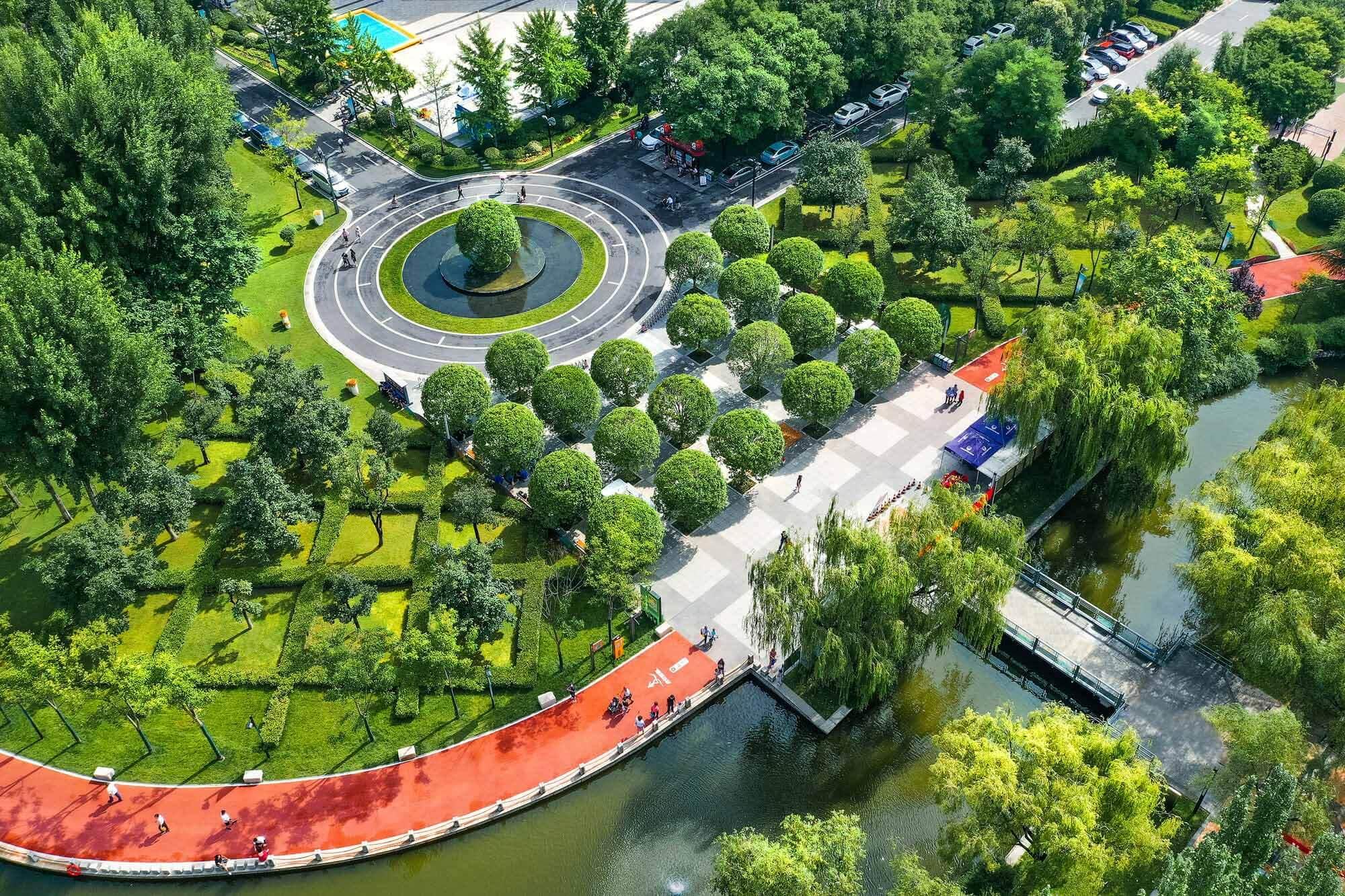Проект улучшения ландшафта спортивного парка города Сиань / Северо-западный институт проектирования и исследований архитектуры Китая