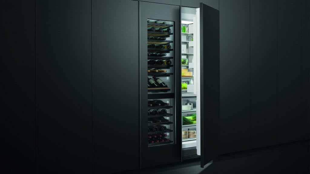 Интегрированный винный шкаф на колонне от Fisher & Paykel
