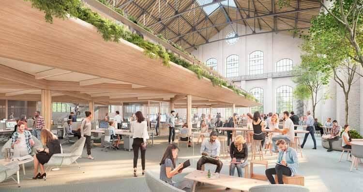Изучение принципов реурбанизма: адаптивное повторное использование в масштабах города, Преобразование офисного здания - Испания.  Изображение через Foster + Partners