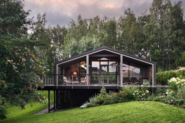 Модульный дом на склоне / БИО-архитекторы, © Сергей Мельников