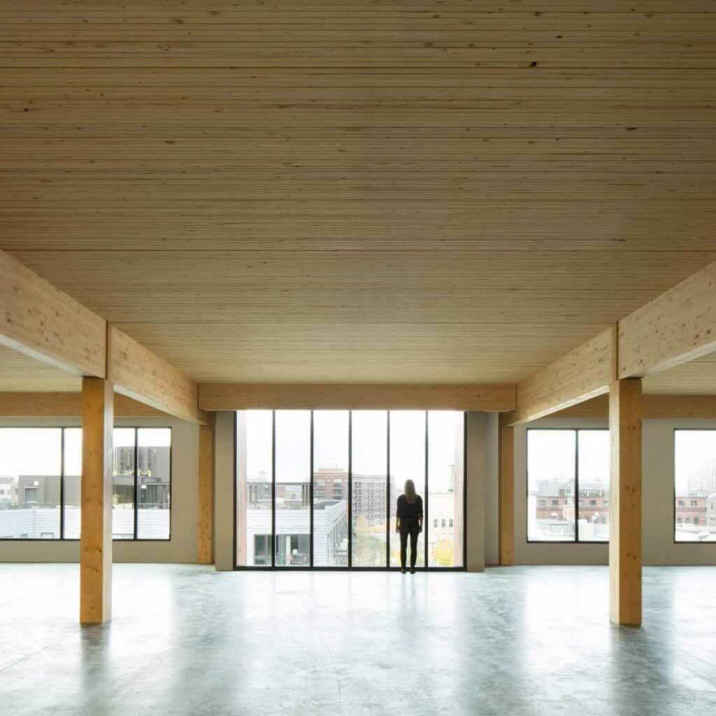 Нью-Йорк одобрил использование поперечно-клееного бруса для строительства шестиэтажных домов