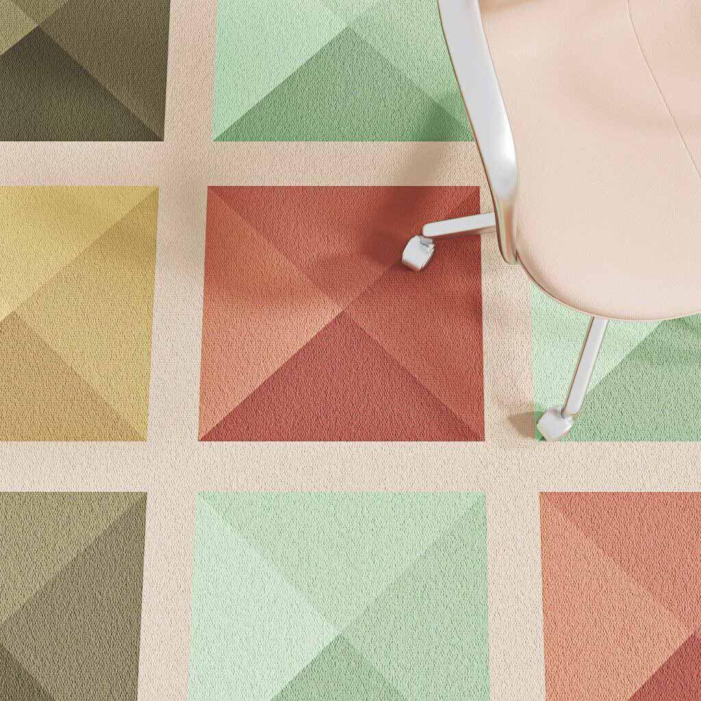 Разноцветный ковер для лоджии от Talk Carpet