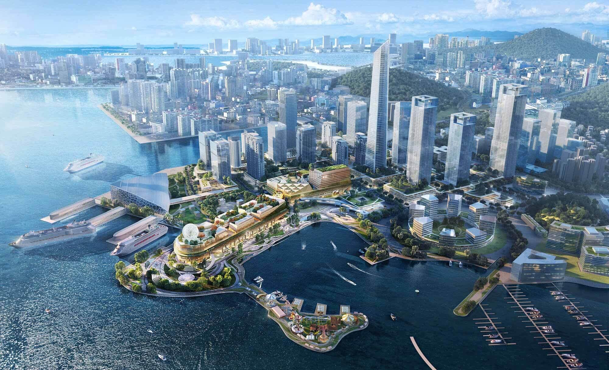 Ronald Lu & Partners проектирует среду с высокой плотностью населения в быстро урбанизируемой зоне Большого залива в Южном Китае