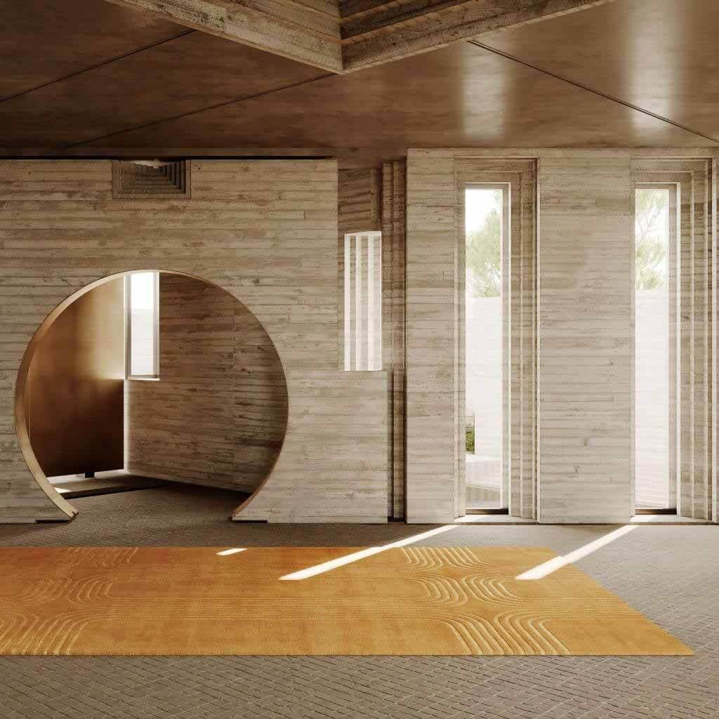 Tigmi Trading создает коллекцию ковров под влиянием бруталистской архитектуры