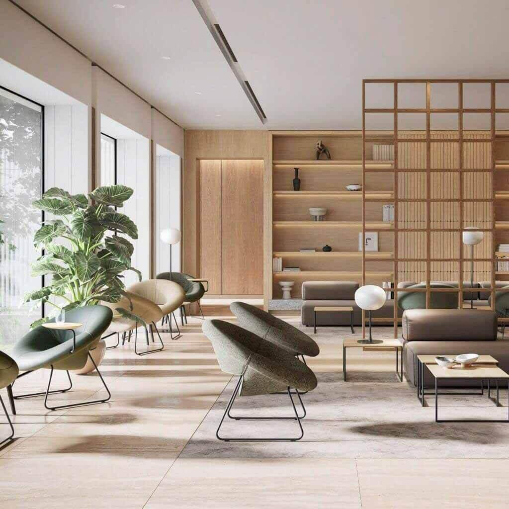 Универсальные и эргономичные сиденья от Leolux LX в выставочном зале Dezeen